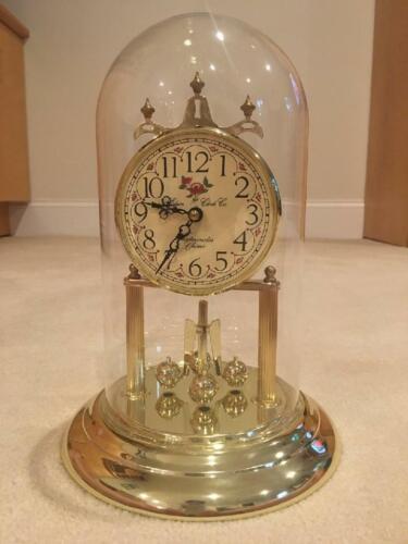 Vintage Elgin Glass Dome Globe Westminster Chime Mantel NIB