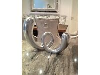 Metal twisted vase