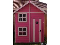 Outdoor two story playhouse
