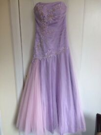 Lilac Ball Gown, size 10.