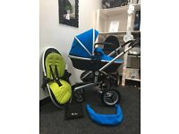 Silver Cross Surf 2 Sky Blue Pushchairs Single Seat Stroller