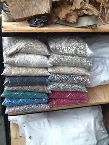 Bags of used gravel