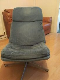 Used Swivel Armchair Comfortable Livingroom Blue Armchair