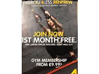 Come join xercise 4 less Renfrew Join now 1st month free strating from £9.99