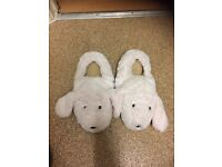 Heated bunny slippers