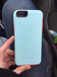 Blue and pink Symmetry otterbox iPhone 6