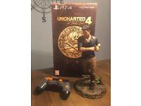 PS4 Limited Edition Controller & Uncharted 4 Statue