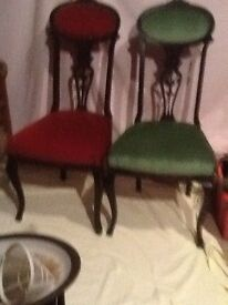 Four dining chairs immaculate very unusual andbeautiful
