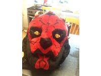 Star Wars collectables 3 Star Wars interconnecting talking money boxes..and plush backpack..