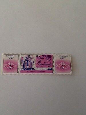 The Nebraska Masonic Home Plattsmouth Nebraska Stamp Seal Vintage Nh Rare