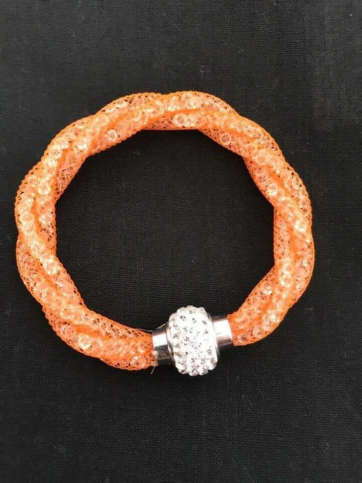 Orange Clasp Bracelet