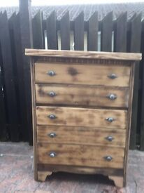 Distressed Handmade Chest of Drawers