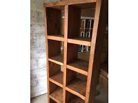 Solid Wood 10 Shelf Unit