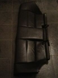 BMW e46 coupe black leather rear bench seat