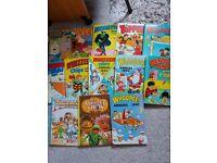 1970s and 80s vintage kids comic books