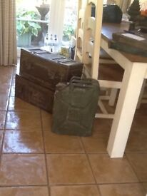 2amunition metal trunks and Jerry can