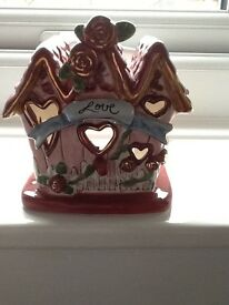 """Love"" bird/candle house"