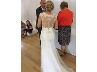 Sottero & Midgley 'Beckett' Wedding Dress in Ivory / Pewter Accent. Size 10/12.