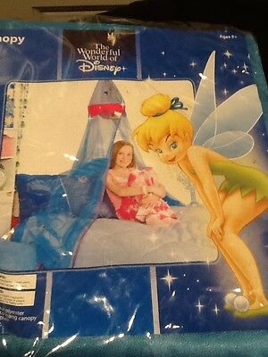 Disney Tinkerbell Bed Canopy New Blue in Color Sealed