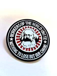 Karl Marx Enamel Pin Badge - Workers Of The World Marxist Socialist Communist