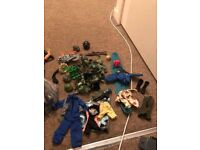 Collection of Action Man figures and extras