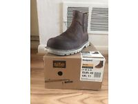 Work Boots, Site Mudguard steel toe cap, Size 11