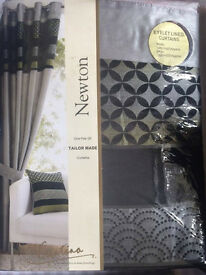 Set of new: curtains, double bedding and 5 cushions