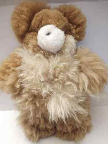 "21"" Real Fur Brown Bear Plush Stuffed Animal Toy Soft"