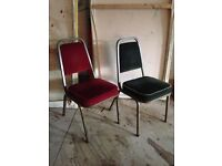 JOB LOT OF VINTAGE VELVET CHAIRS PERFECT FOR THEATRE PUBS CAFES