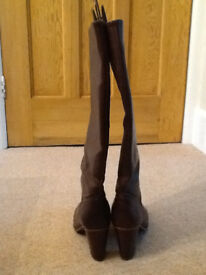 Crew Clothing – Brown leather boots size 38 (UK 5)