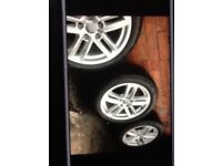 """Genuine 17"""" Audi A4 Sline Alloys With Good Tyres For Sale"""