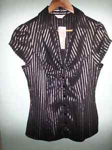 Crossroads Metallic Stripe Shirt Size 14 Brand New RRP $29.95 Kelso Townsville Surrounds Preview
