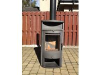 Apollos multi fuel wood burner stove 13kw nominal output of 8kw. New grate ready to go.