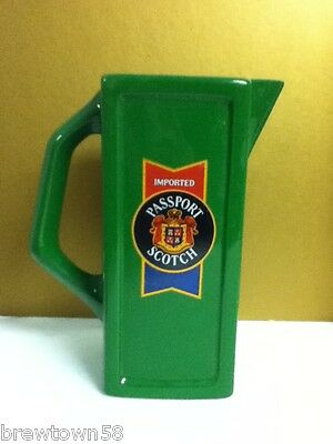 Imported Passport scotch liquor green drink glass pitcher pitchers vintage QG3
