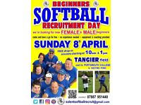 beginners SOFTBALL - we're looking for women & men to come and learn/play