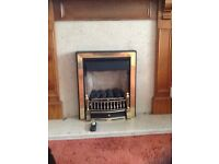 Burley Flueless Gas Fire.with remote control.Spares or repair.