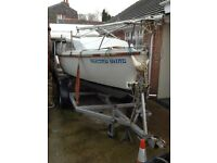 Prelude 19 ft trailer sailer and 4 wheel braked trailer, ready to go sailing