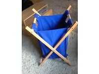 Blue washing bag