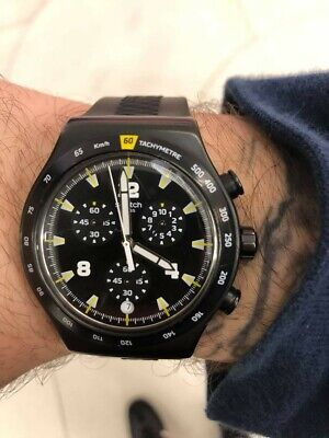 Swatch Chrononero Men's Watch - Chronograph Black Dial - WARRANTY INCLUDED