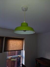 green metal lamp shade
