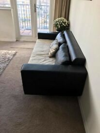 3 seater sofa bed black