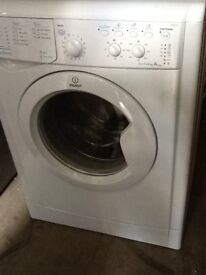indesit washing machine in white