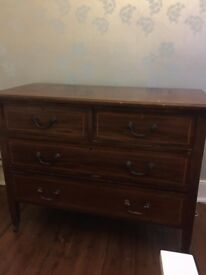 Lovely old chest of drawers, £45, reduced for quick sale