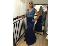 Beaded blue formal dress size 6-8
