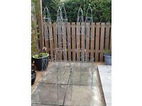 Garden trellis , metal, coated 5