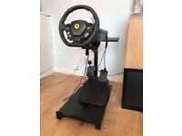 Ferrari steering wheel and pedals with stand