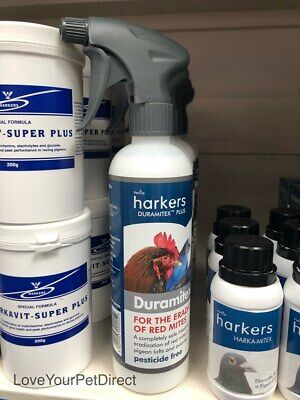 Harkers Pigeon Red Mite Duramitex Plus 500ml Spray Removes Red Mites  BMFD