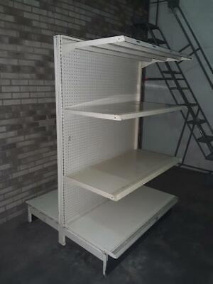 Gondola Shelving Lot 10 Metal Shelves Grocery Aisle Island Used Store Fixtures