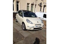 will delete ad when sold, white citroen c3 pluriel exclusive latte 2 lady owners 5 stamps