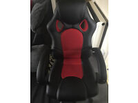 Black and red desk chair